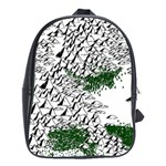 Montains Hills Green Forests School Bag (Large) Front