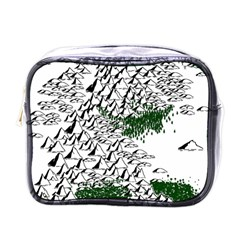Montains Hills Green Forests Mini Toiletries Bag (one Side)