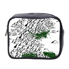 Montains Hills Green Forests Mini Toiletries Bag (two Sides)