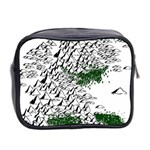 Montains Hills Green Forests Mini Toiletries Bag (Two Sides) Back