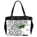 Montains Hills Green Forests Oversize Office Handbag (2 Sides) Front