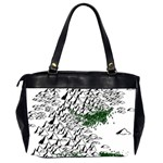 Montains Hills Green Forests Oversize Office Handbag (2 Sides) Back