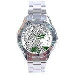 Montains Hills Green Forests Stainless Steel Analogue Watch Front