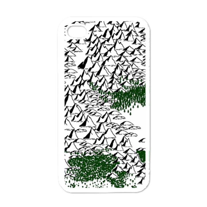 Montains Hills Green Forests Apple iPhone 4 Case (White)