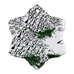 Montains Hills Green Forests Ornament (Snowflake) Front