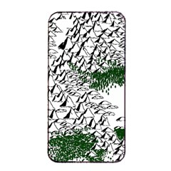 Montains Hills Green Forests Apple Iphone 4/4s Seamless Case (black)
