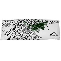 Montains Hills Green Forests Body Pillow Case (dakimakura)