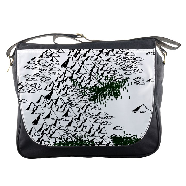 Montains Hills Green Forests Messenger Bag