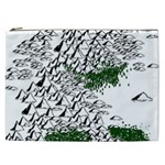 Montains Hills Green Forests Cosmetic Bag (XXL) Front