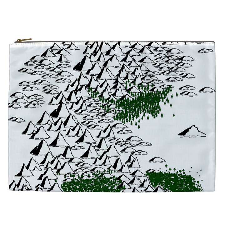 Montains Hills Green Forests Cosmetic Bag (XXL)
