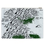 Montains Hills Green Forests Cosmetic Bag (XXL) Back