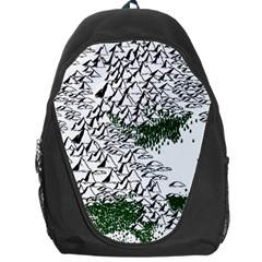 Montains Hills Green Forests Backpack Bag