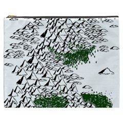 Montains Hills Green Forests Cosmetic Bag (xxxl) by Alisyart