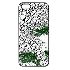 Montains Hills Green Forests Apple Iphone 5 Seamless Case (black)