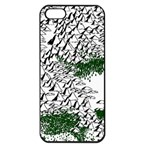 Montains Hills Green Forests Apple iPhone 5 Seamless Case (Black) Front