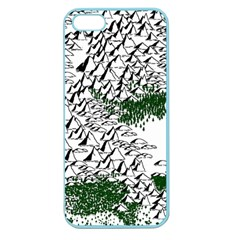 Montains Hills Green Forests Apple Seamless Iphone 5 Case (color)