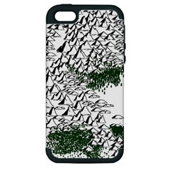 Montains Hills Green Forests Apple Iphone 5 Hardshell Case (pc+silicone)