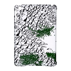 Montains Hills Green Forests Apple Ipad Mini Hardshell Case (compatible With Smart Cover)