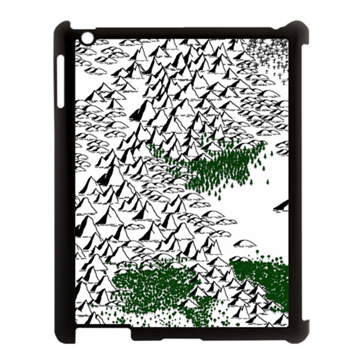 Montains Hills Green Forests Apple iPad 3/4 Case (Black)