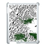 Montains Hills Green Forests Apple iPad 3/4 Case (White) Front