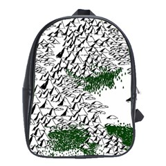 Montains Hills Green Forests School Bag (xl)