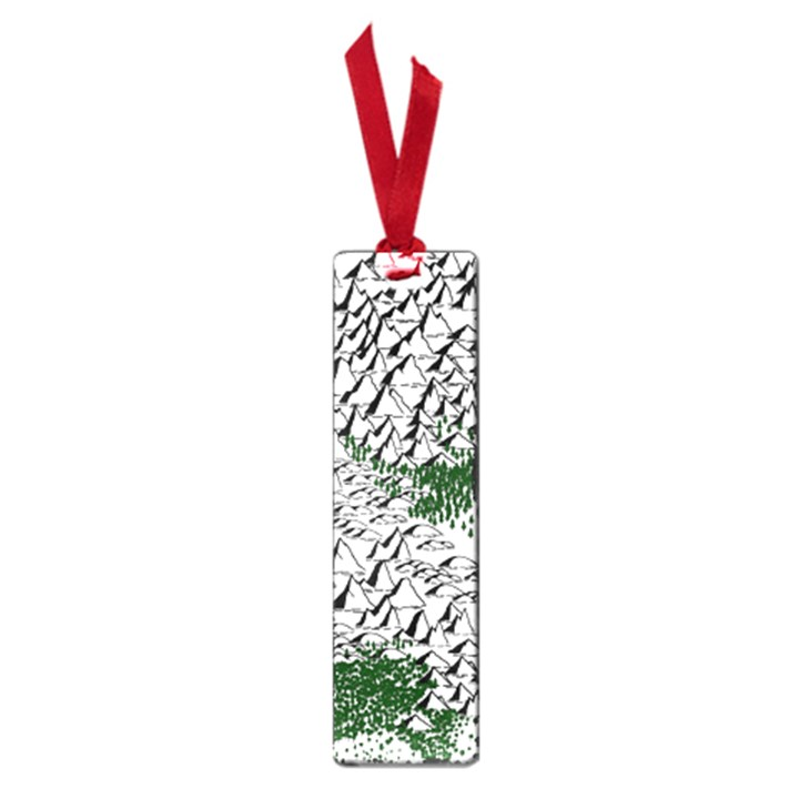 Montains Hills Green Forests Small Book Marks