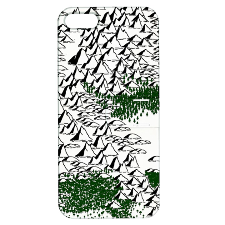 Montains Hills Green Forests Apple iPhone 5 Hardshell Case with Stand