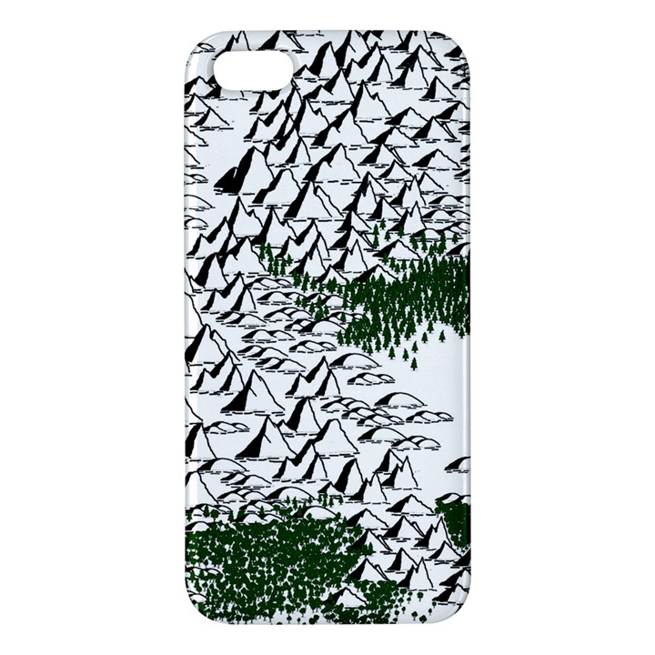 Montains Hills Green Forests Apple iPhone 5 Premium Hardshell Case