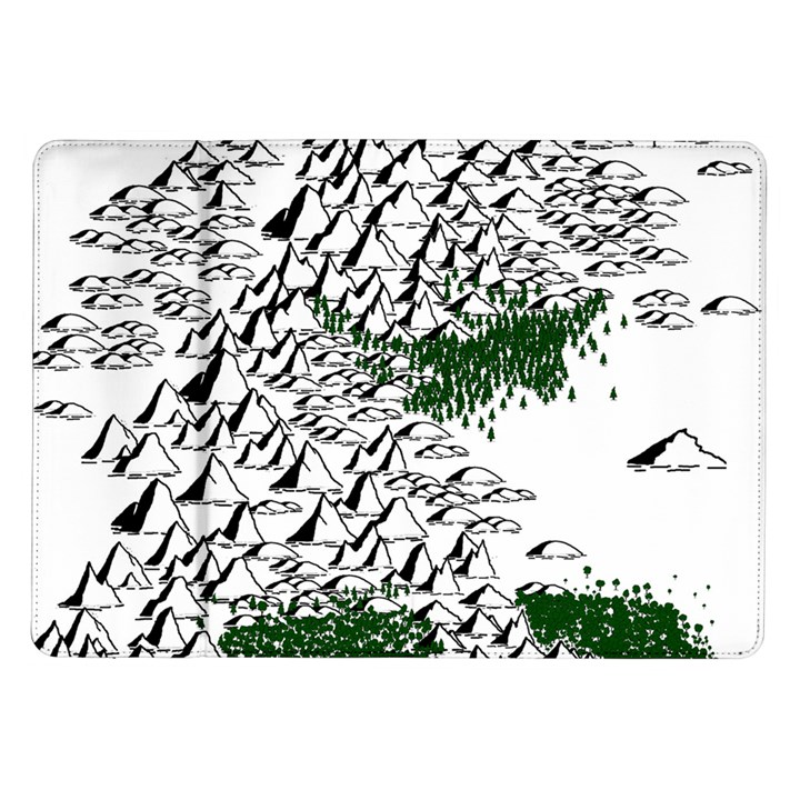 Montains Hills Green Forests Samsung Galaxy Tab 10.1  P7500 Flip Case