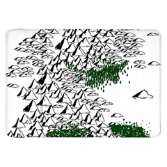 Montains Hills Green Forests Samsung Galaxy Tab 8 9  P7300 Flip Case
