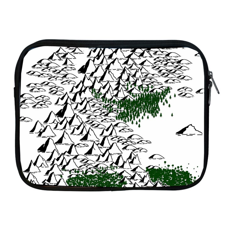 Montains Hills Green Forests Apple iPad 2/3/4 Zipper Cases
