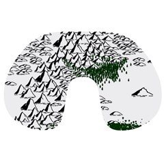 Montains Hills Green Forests Travel Neck Pillows