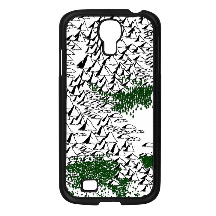 Montains Hills Green Forests Samsung Galaxy S4 I9500/ I9505 Case (Black)