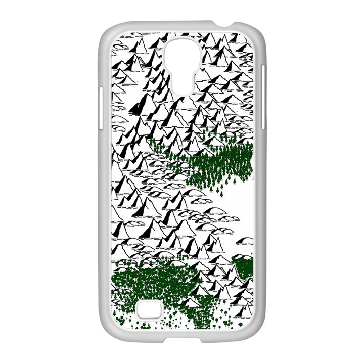 Montains Hills Green Forests Samsung GALAXY S4 I9500/ I9505 Case (White)