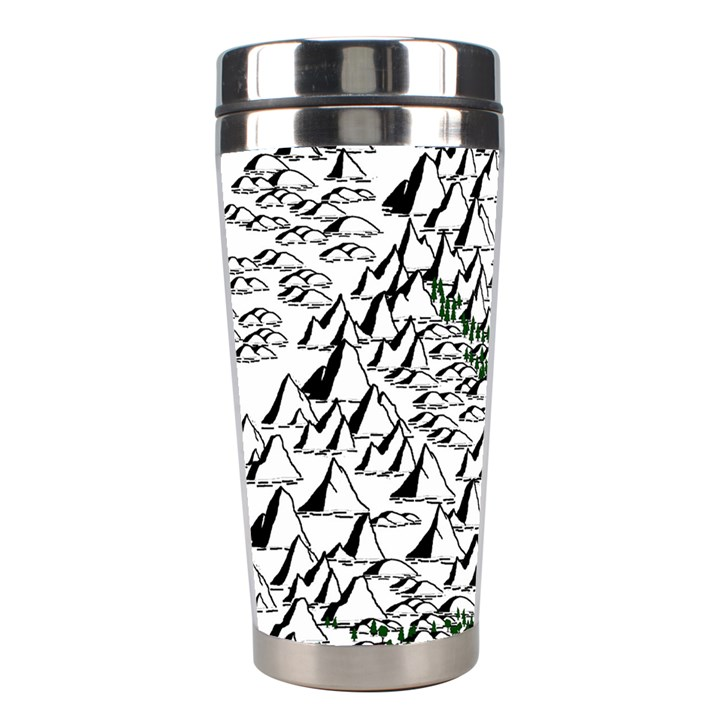 Montains Hills Green Forests Stainless Steel Travel Tumblers