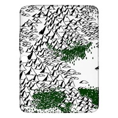 Montains Hills Green Forests Samsung Galaxy Tab 3 (10 1 ) P5200 Hardshell Case  by Alisyart