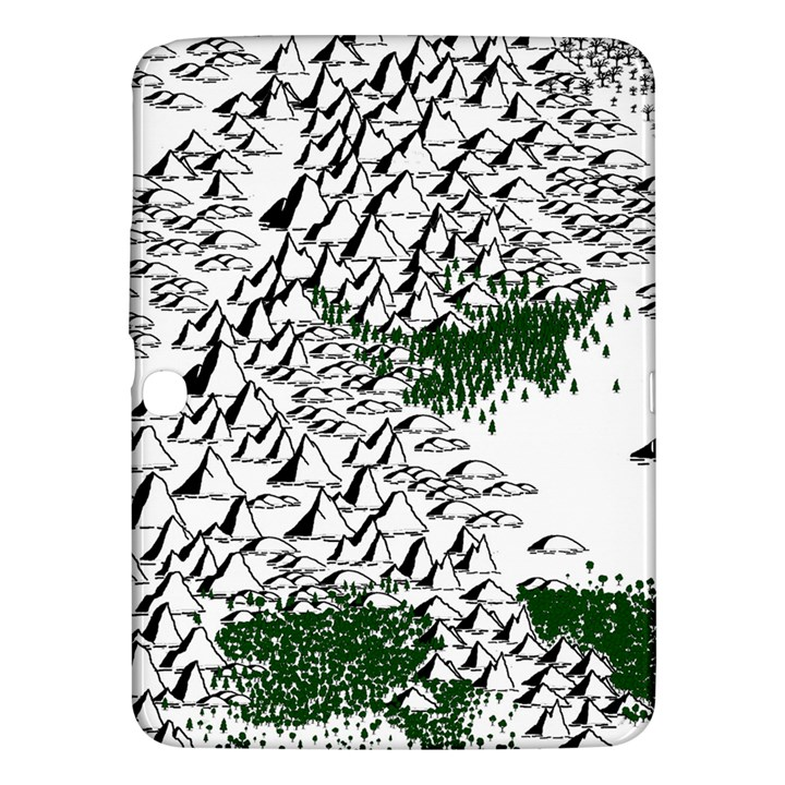 Montains Hills Green Forests Samsung Galaxy Tab 3 (10.1 ) P5200 Hardshell Case