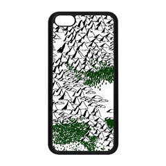 Montains Hills Green Forests Apple Iphone 5c Seamless Case (black)