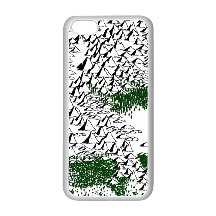 Montains Hills Green Forests Apple iPhone 5C Seamless Case (White)