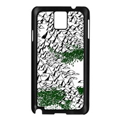 Montains Hills Green Forests Samsung Galaxy Note 3 N9005 Case (black)