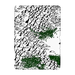 Montains Hills Green Forests Samsung Galaxy Note 10 1 (p600) Hardshell Case