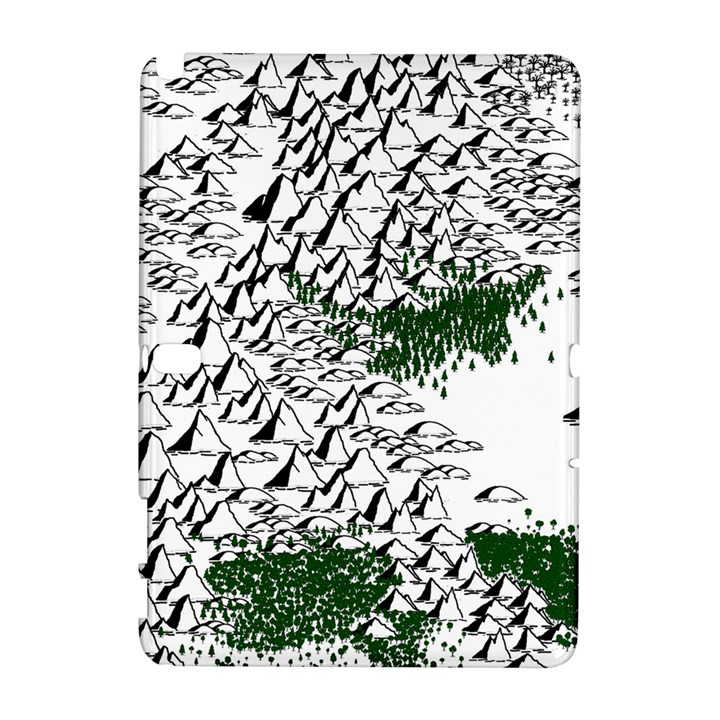 Montains Hills Green Forests Samsung Galaxy Note 10.1 (P600) Hardshell Case