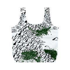 Montains Hills Green Forests Full Print Recycle Bag (m)