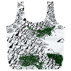 Montains Hills Green Forests Full Print Recycle Bag (xl) by Alisyart
