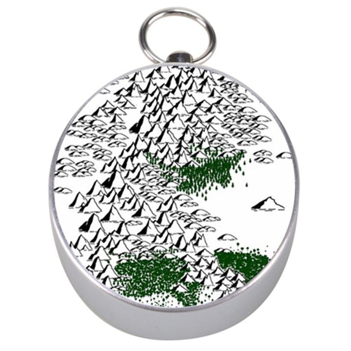 Montains Hills Green Forests Silver Compasses