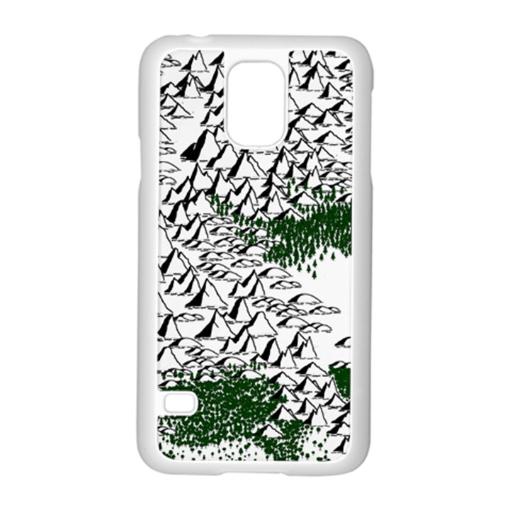 Montains Hills Green Forests Samsung Galaxy S5 Case (White)