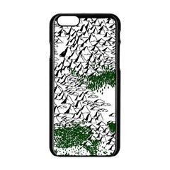 Montains Hills Green Forests Apple Iphone 6/6s Black Enamel Case by Alisyart