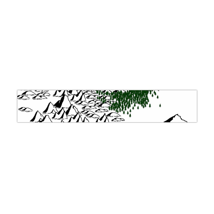 Montains Hills Green Forests Flano Scarf (Mini)