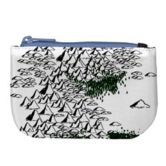 Montains Hills Green Forests Large Coin Purse