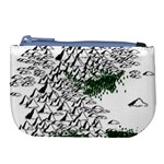 Montains Hills Green Forests Large Coin Purse Front